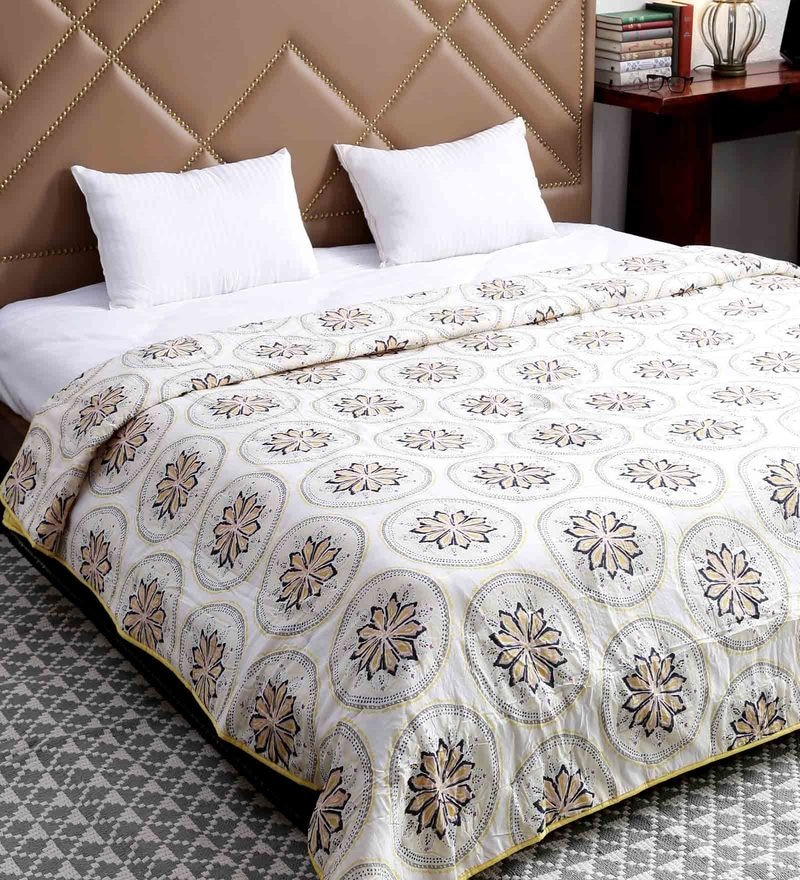 White 100% Cotton Queen Size Blanket by Solaj