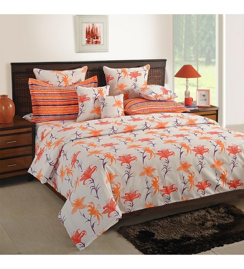 White Cotton King Size Bedsheet - Set of 3 by Swayam