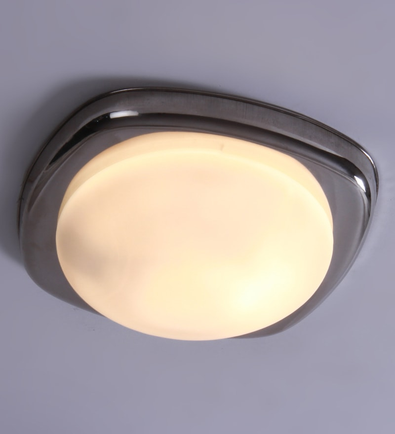 White Fiber Flush Mounted Light by Patco Electricals