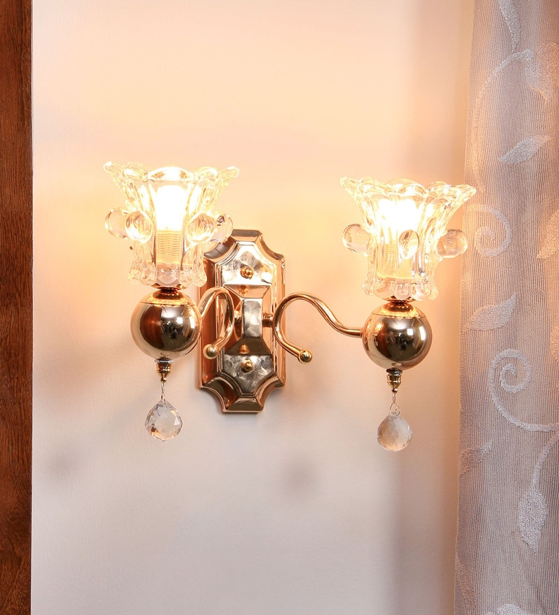 Buy White Glass Wall Light By Aesthetic Home Solutions Online Contemporary Wall Sconces Wall