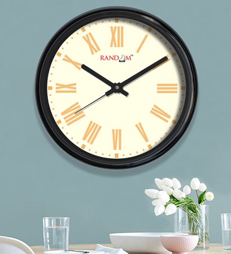 White Plastic 12 x 2 x 12 Inch Revive Wall Clock by Random