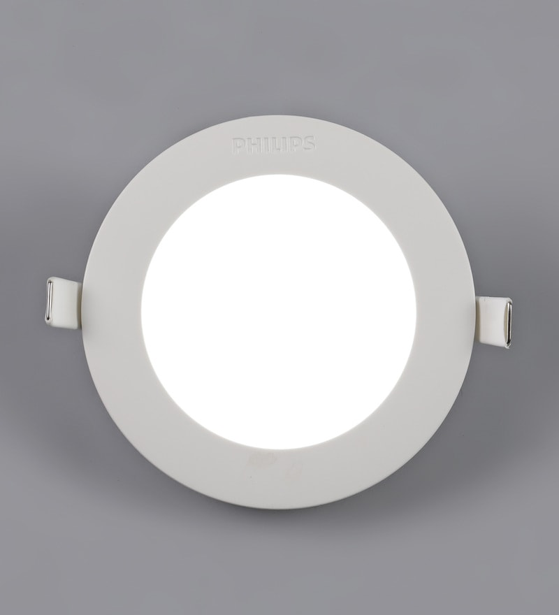 White Plastic Astra Prime 5 W Recessed Ceiling Light by Philips