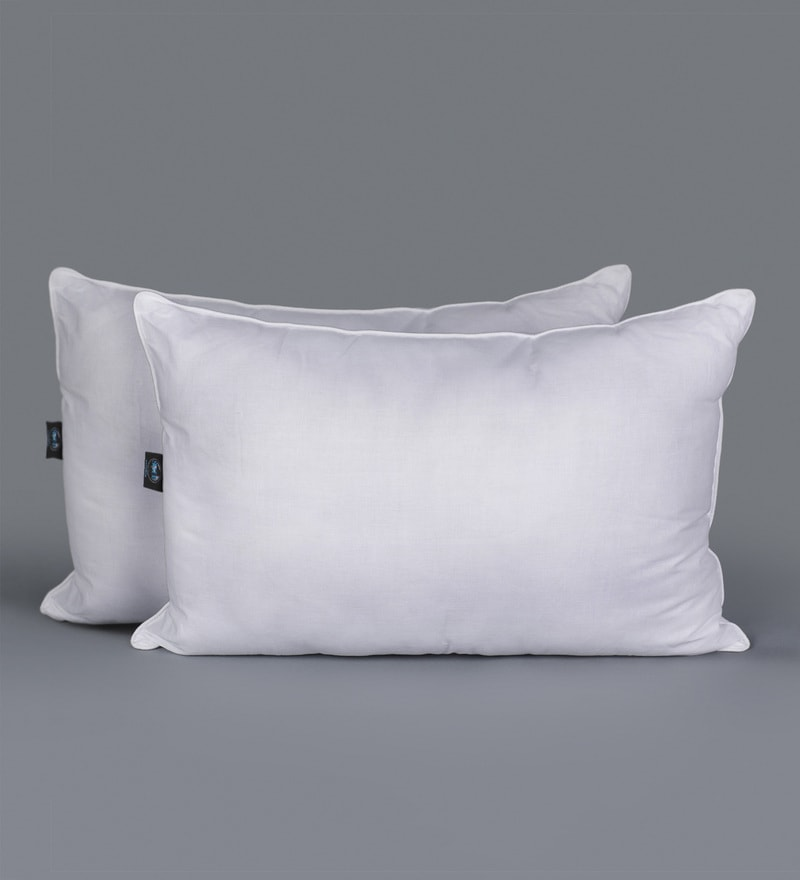 White Polyester 17 x 24 Inch King Pillows - Set of 2 by SWHF