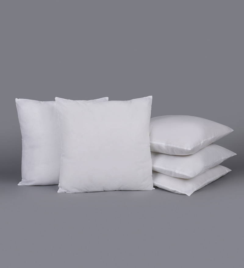 White Polyester 20 x 20 Inch Non Woven Cushion Filler - Set of 5 by SWHF
