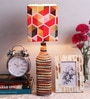 Multicolour Satin Table Lamp by What Scrap