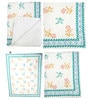 White Seashell Aqua Border Print Baby Quilt in White Colour by Cocobee