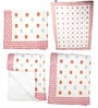 White Pink Butterfly Print Baby Quilt in White Colour by Cocobee