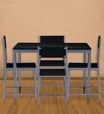 Wigo Four Seater Dining Set in Black Colour