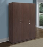 Willy Three Door Wardrobe in Walnut Finish