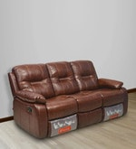 Wilson Three Seater Sofa with Rocker Recliner in Caramel Colour