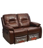 Wilson Two Seater Sofa with Rocker Recliner in Caramel Colour