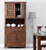 Windsor Hutch Cabinets in Provincial Teak Finish