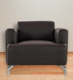 Windsor One Seater Sofa in Dark Brown Colour