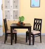 Wisconsin Two Seater Dining Set in Warm Chestnut Finish
