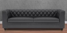 William Three Seater Sofa in Peras Bag Black Colour
