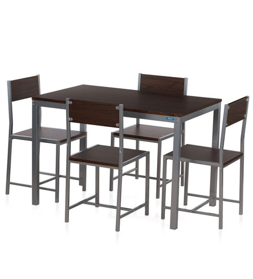 Buy Wigo Four Seater Dining Set in Walnut Finish by Nilkamal