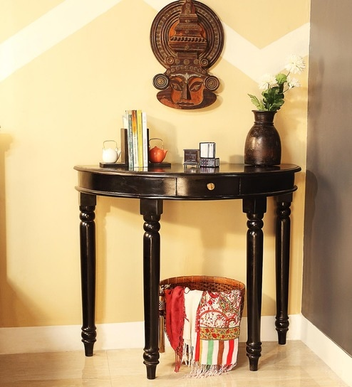 Buy William Solid Wood Console Table in Espresso Walnut Finish by Amberville Online - Colonial - Console Tables - Pepperfry