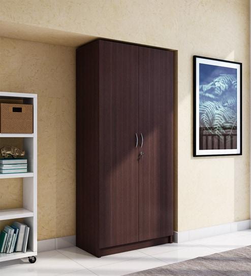 Willy Two Door Wardrobe in Walnut Finish by HomeTown