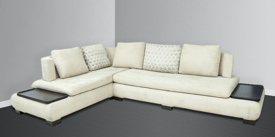 Buy Denver RHS Sectional Sofa In Off-white Colour By Star India Online - Contemporary Corner Sofas - Sectional Sofas - Furniture - Pepperfry Product