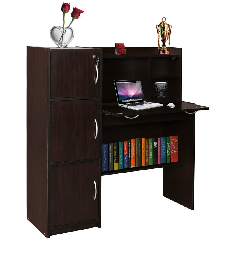 Buy Winner Study Table In Cappuccino Finish By Fonzel