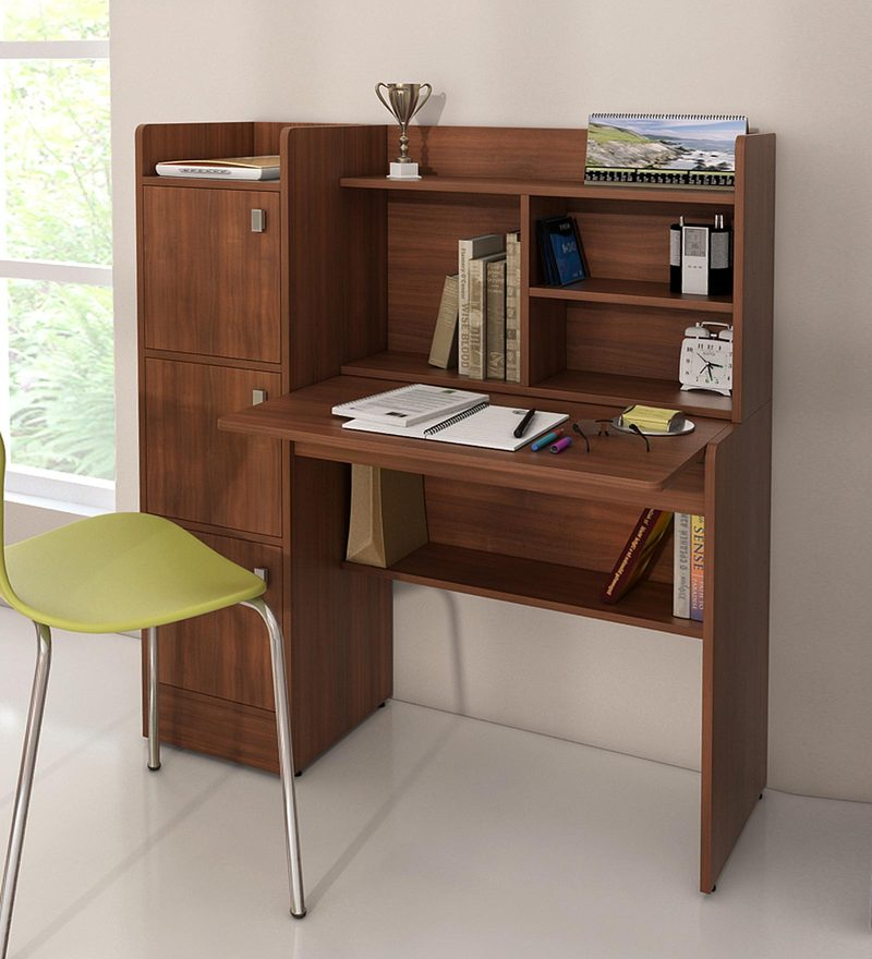 Online Shopping Study Table: Buy Winner Study Table In Rigato Walnut Finish By