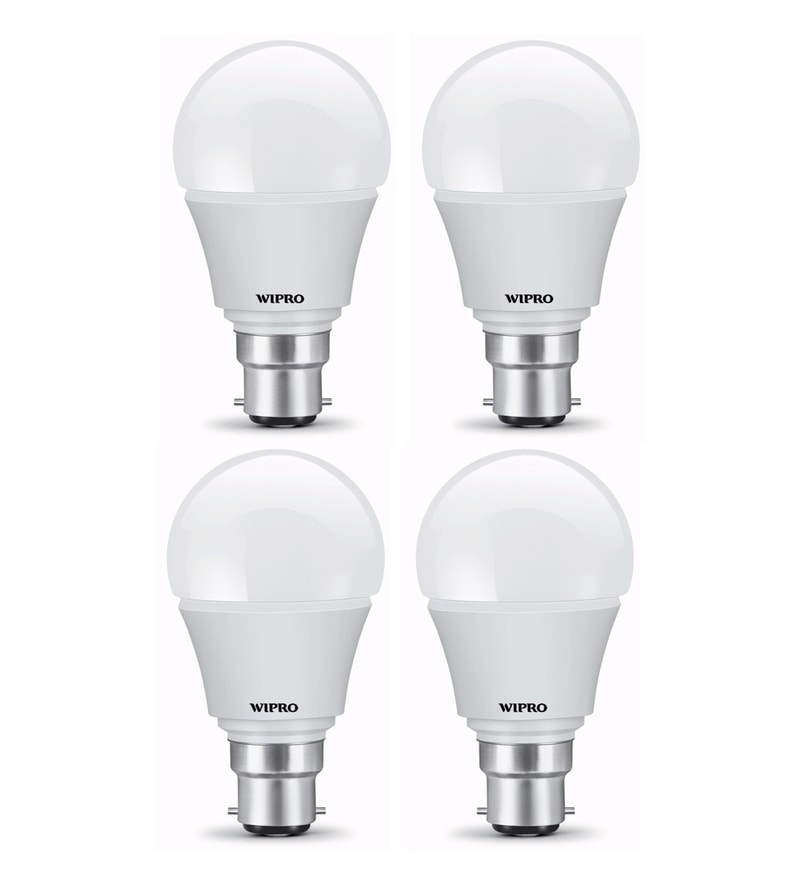 Wipro B22 Warm White 5 W LED Bulbs - Set of 4