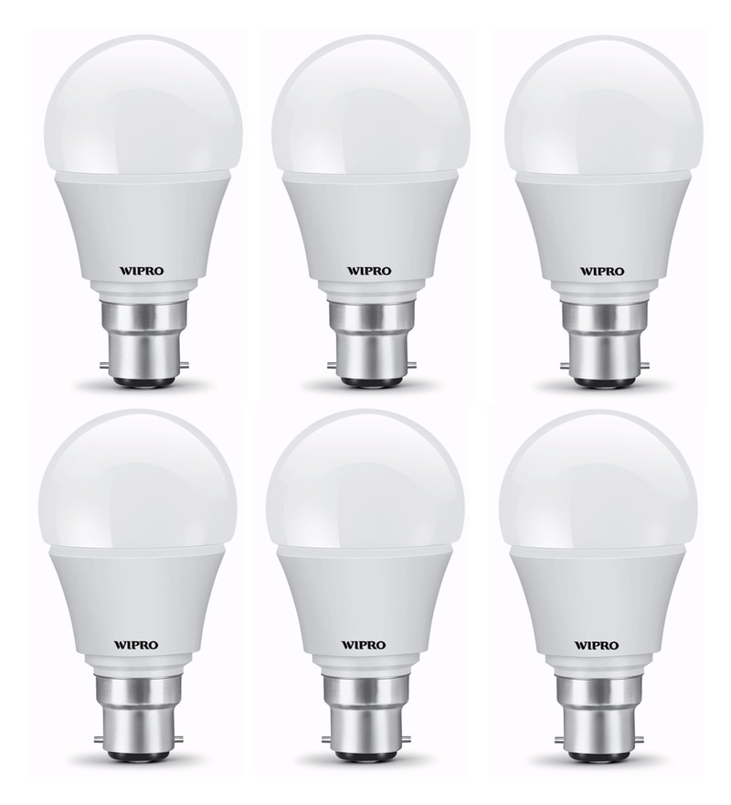 Wipro B22 Warm White 5 W LED Bulbs - Set of 6