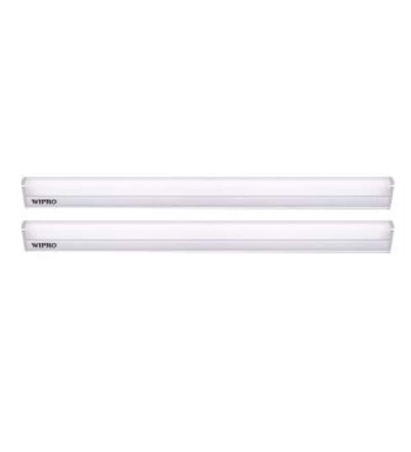 Wipro Garnet Warm White 10 W LED Battens - Set of 2