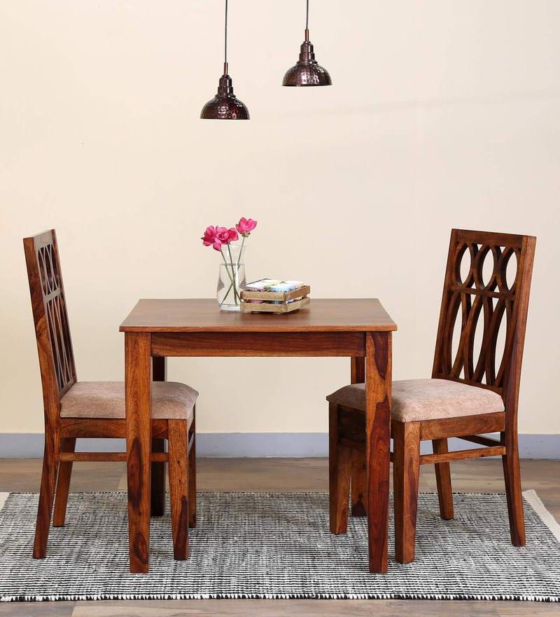 Wisconsin Two Seater Dining Set in Honey Oak Finish by Woodsworth