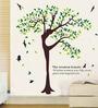 WallTola PVC Vinyl Wisdom Woman Tree Wall Sticker