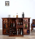 Woodway Bar Cabinet in Provincial Teak Finish