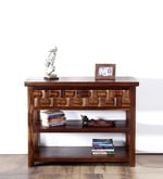 Woodway Console Table in Provincial Teak Finish