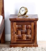 Woodway Left Door  Bed Side Table in Provincial Teak Finish