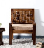 Woodway One Seater Sofa in Provincial Teak Finish