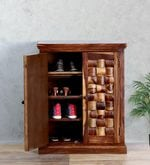 Woodway Shoe Cabinet in Provincial Teak Finish