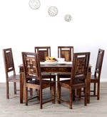 Woodway Six Seater Dining Set in Provincial Teak Finish