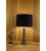Black Poly Cotton Table Lamp
