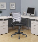 Workstation Ergonomic Chair in Grey Colour