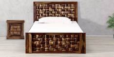 Woodway Single Size Bed in Provincial Teak Finish