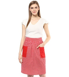 Wobbly Walk Polka Dots Cotton Waist Apron