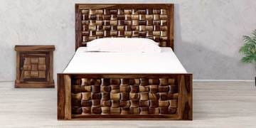 Woodway Single Size Bed in Provincial Teak Finish by Woodsworth at pepperfry