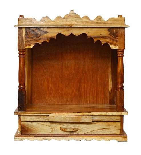 Pavitra Mandir Wooden Home Temple By Pavitra Mandir Online Temples Home Decor Pepperfry