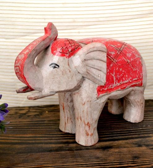 Wooden Large Elephant Statue By Artlivo