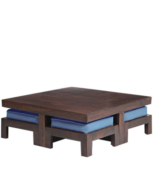 Wooden Square Coffee Table Set By House Of Furniture