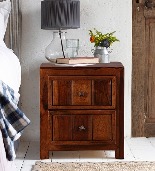 Woodrow Solidwood Night Stand in Honey Colour by HomeTown