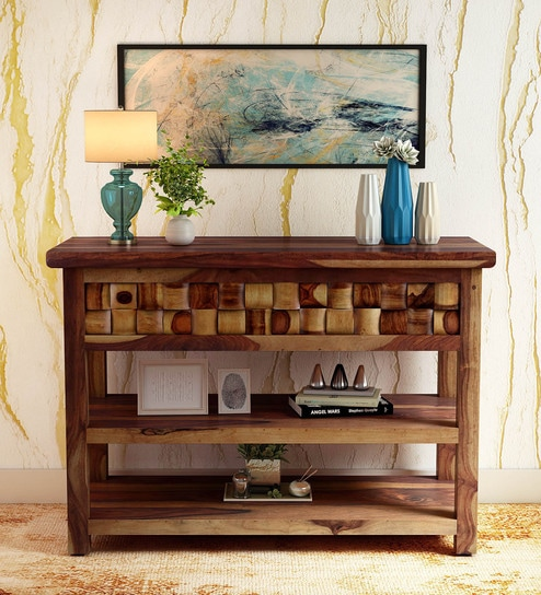 Stupendous Woodway Solid Wood Console Table In Provincial Teak Finish By Woodsworth Download Free Architecture Designs Scobabritishbridgeorg