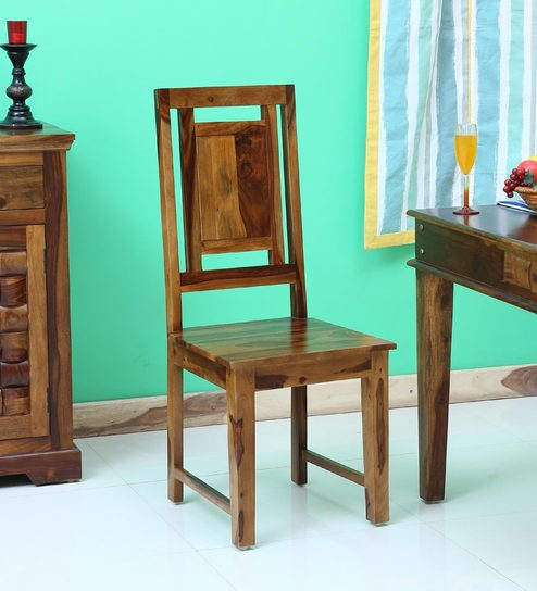Woodway Solid Wood Dining Chair In Provincial Teak Finish By Woodsworth