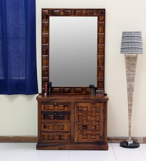 Bon Woodway Solid Wood Dressing Table In Provincial Teak Finish By Woodsworth
