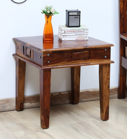 Woodway Solid Wood End Table In Provincial Teak Finish By Woodsworth