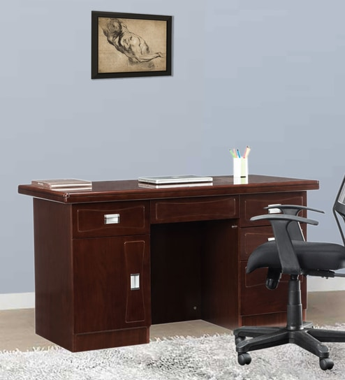 Awesome Meridian Workspace Desk In Warm Finish By Durian Download Free Architecture Designs Scobabritishbridgeorg